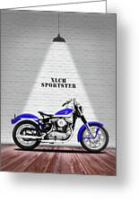 The Sportster Vintage Motorcycle Greeting Card