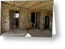 The Stone Jailhouse Interior Greeting Card