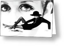 Twiggy Swinging 60's - Pop Art Greeting Card