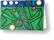 The Tennis Match Greeting Card