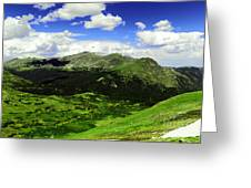 The Top Of Independence Pass Greeting Card