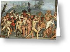 The Triumph Of Bacchus Greeting Card