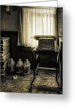 The Typewriter Greeting Card