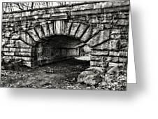 The Underpass Black And White Greeting Card