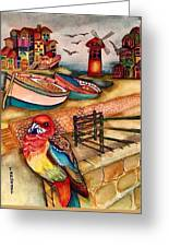 The Venician Bird Greeting Card