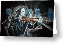 The White Violin Greeting Card by Joel Tesch