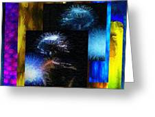 These Colors I Hear When Nancy Wilson Sings Turned To Blue  Greeting Card