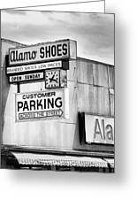 These Shoes Alamo Shoes Greeting Card