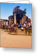 They Come To See Angkor Wat, Siem Reap, Cambodia Greeting Card