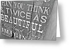 Think On It Greeting Card by JAMART Photography