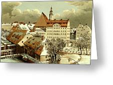 Thomasschule In Leipzig Greeting Card