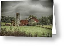 Threatening Skies Greeting Card by Judy Hall-Folde