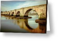 Three Bridges. Greeting Card