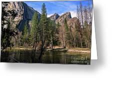 Three Brothers, Yosemite National Park Greeting Card