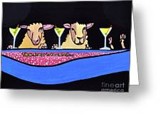 Three Sheeps To The Wind  Greeting Card