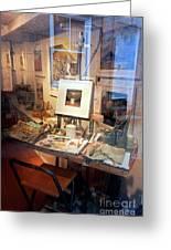 Through An Artists Window Greeting Card