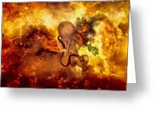 Through Ashes Rise II Greeting Card