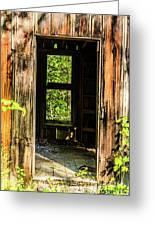 Through The Old Blacksmith Shop Greeting Card