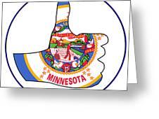 Thumbs Up Minnesota Greeting Card