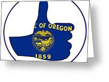 Thumbs Up Oregon Greeting Card