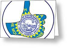 Thumbs Up South Dakota Greeting Card