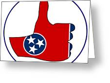 Thumbs Up Tennessee Greeting Card