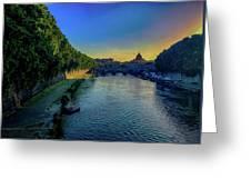 Tiber Evening Greeting Card