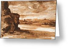Tiber Landscape North Of Rome Wi  Greeting Card