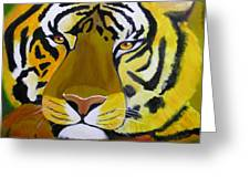 Tiger Greeting Card by Jim Lesher