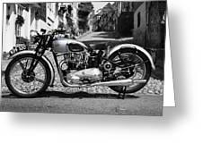 Tiger T100 Vintage Motorcycle Greeting Card
