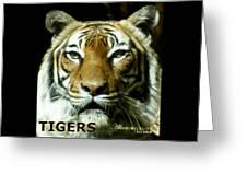 Tigers Mascot 4 Greeting Card