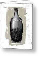 Time In A Bottle 2- Art By Linda Woods Greeting Card