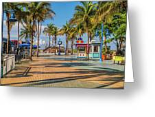 Times Square In Fort Myers Beach Florida Greeting Card