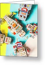 Tin Circuits Greeting Card