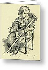 Tiny Tim From A Christmas Carol By Charles Dickens Greeting Card