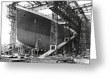 Titanic In Belfast Dry Dock 1911 Greeting Card