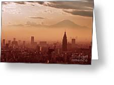 Tokyo And Mount Fuji Greeting Card