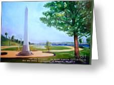 Tom Lee Monument Anniversary Print Greeting Card