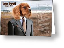 Top Dog Magazine Greeting Card by ISAW Company