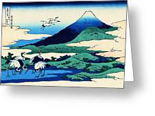 Top Quality Art - Mt,fuji36view-soshu Umezawanosho Greeting Card