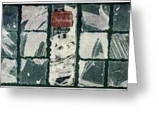 Torn Squares Collage Greeting Card