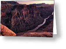 Toroweap Overlook At Sunset Greeting Card