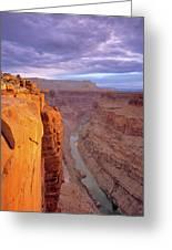 Toroweap Overlook Cliff Greeting Card