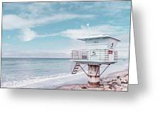Torrey Pines Beach Lightguard Station Number 5 Greeting Card by Wendy Fielding