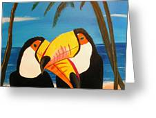 Toucan Love Greeting Card by Jim Lesher