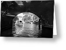 Tourboat On Amsterdam Canal Greeting Card