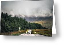 Towards The Fairy Pools Greeting Card
