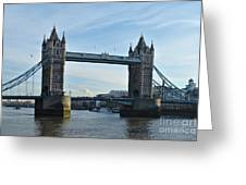Tower Bridge At Afternoon In London Greeting Card