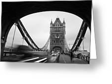 Tower Bridge In London In United Greeting Card