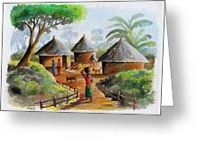 Traditional Village Greeting Card